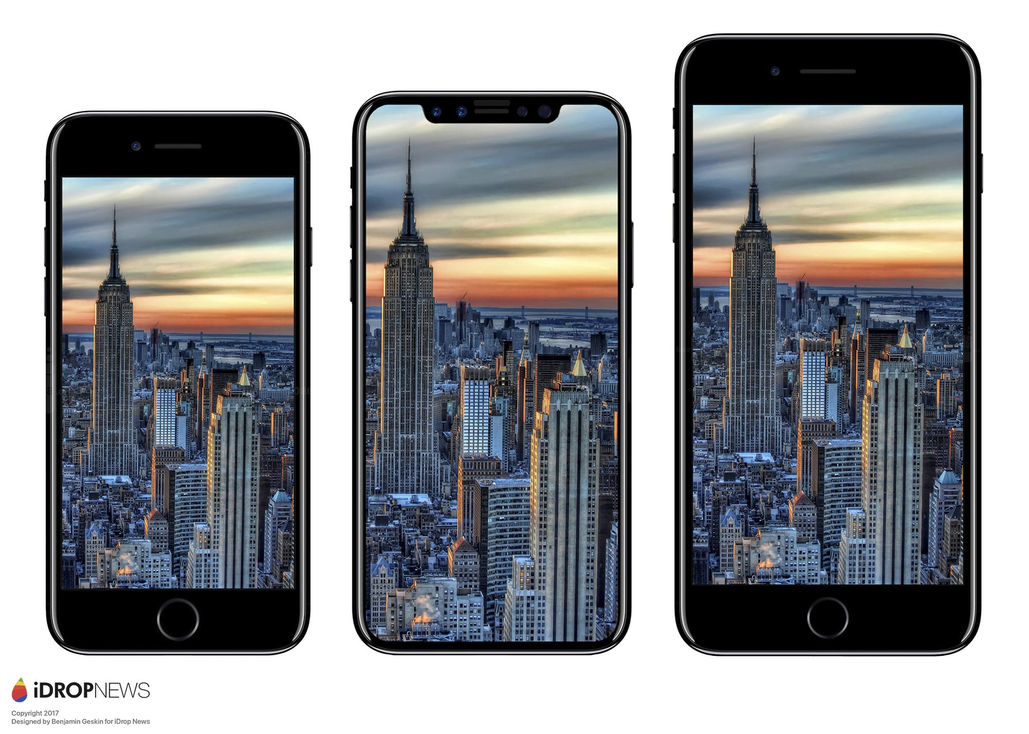 iPhone8の詳細な寸法と画像がリークか。iPhone7/Galaxy S8と比較 iPhone7より大きいぞ!